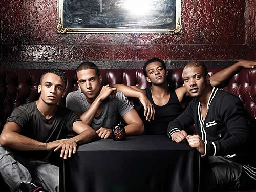 British Boy Band JLS. I Don't actually like their music, they're just nice to look at.
