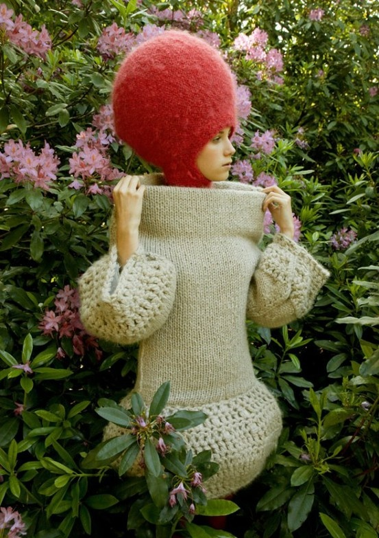Nathalie Fordeyn Is this what more sense looks like? Knitted!! Who would have thought!