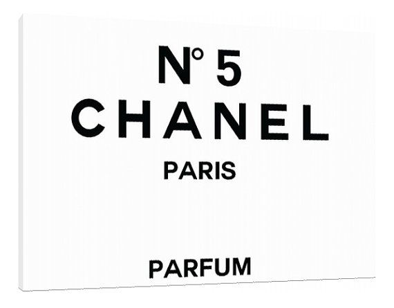 chanel no 5 perfume label canvas typography perfume