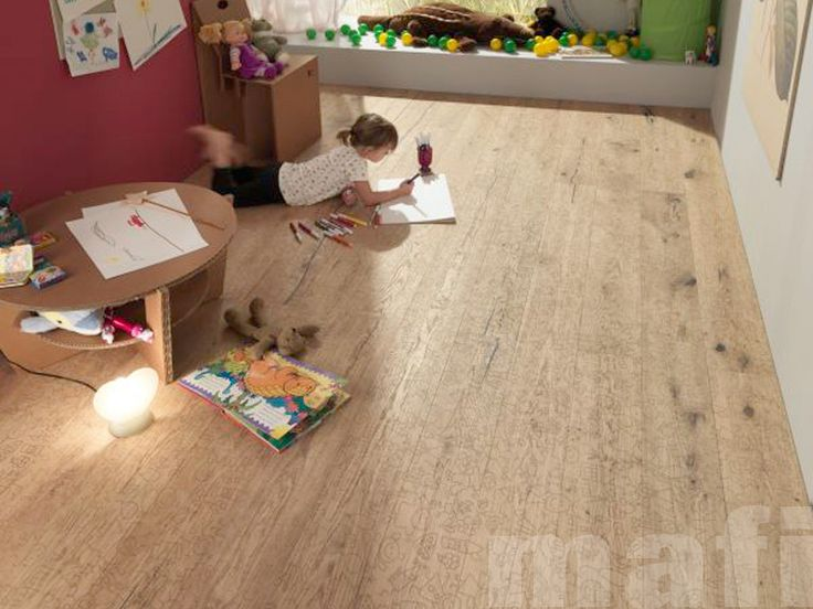 Mafi Timber Floorboards   Carving Kids Brushed White Oil