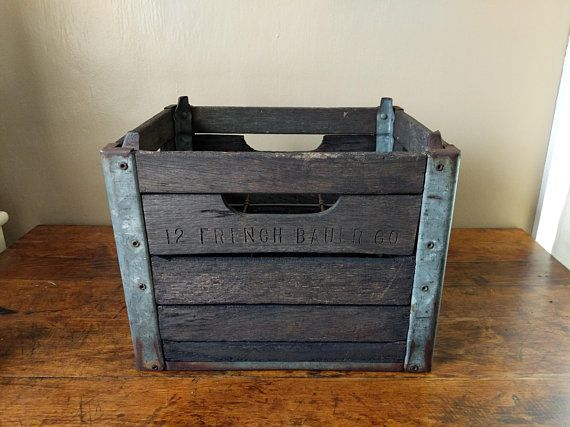 Antique Crate Vintage Wooden Milk Crate Large Wood And Milk Crates Crates How To Antique Wood