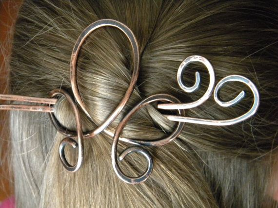 Hair Slide Hair Pin Hair Accessories Hair Clip by ElizabellaDesign, $18.50