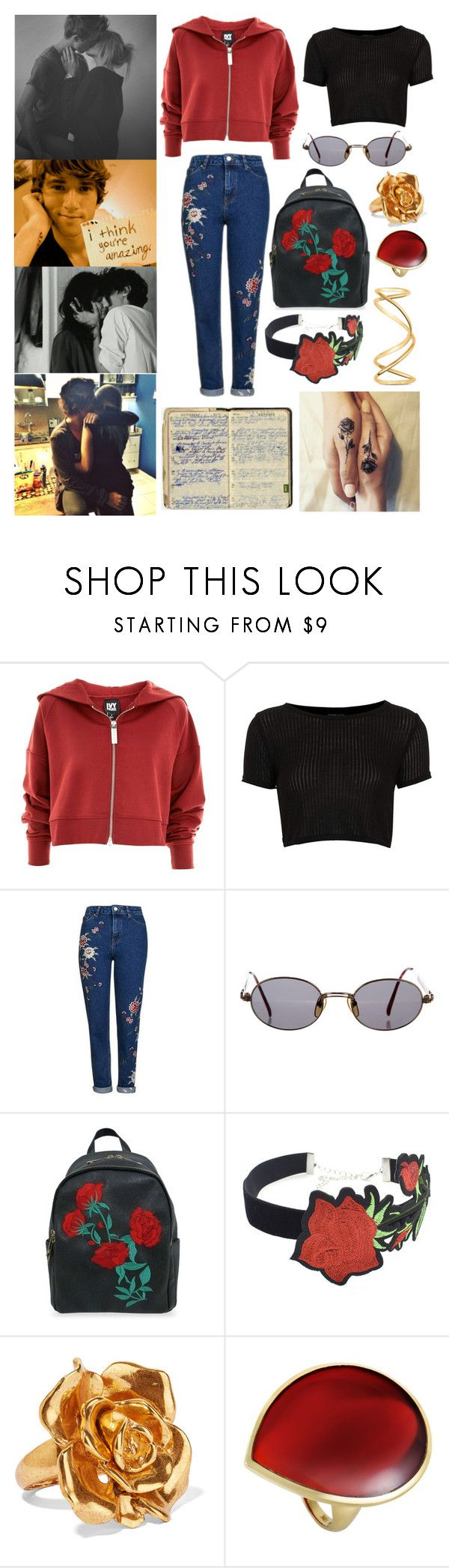"""Love bites (so do I)"" by bellescott36 ❤ liked on Polyvore featuring ...Lost, Topshop, Jean-Paul Gaultier, WithChic, Oscar de la Renta, Ippolita and Maison Margiela"