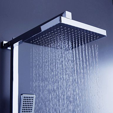 Modern Shower Heads   Contemporary Tub Shower Faucet With 8 Inch Shower Head  U0026 Hand Shower
