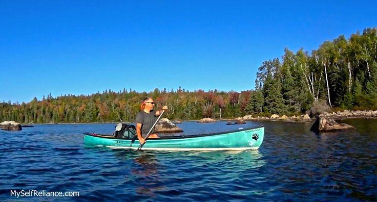 Shawn James canoeing on McGarvey Lake