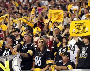 Steelers fans get ready to support their team at Fedex Field