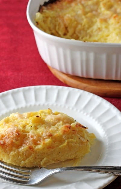 Spaghetti Squash Gratin...this one is a little lighter. Especially if you sub in Greek yogurt :)