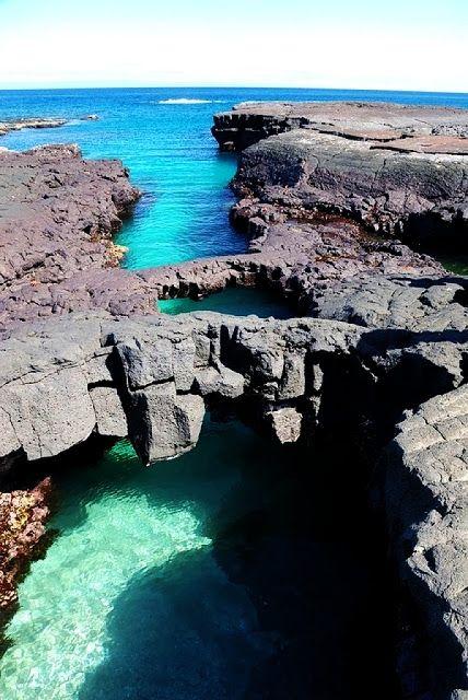 Bridges Over Sea, Santiago Island, Galapagos