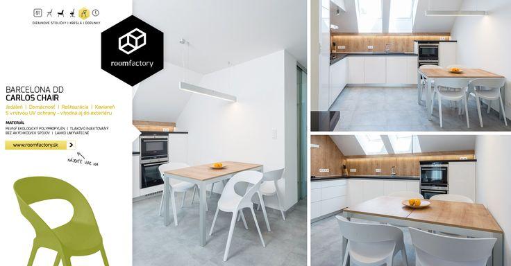 Prinášame vám fotografie z ďalšieho interiéru realizovaného s našimi dizajnovými stoličkami, ktoré svojimi oblými tvarmi dopĺňajú umiernenú farebnú kompozíciu šedá+biela+drevo