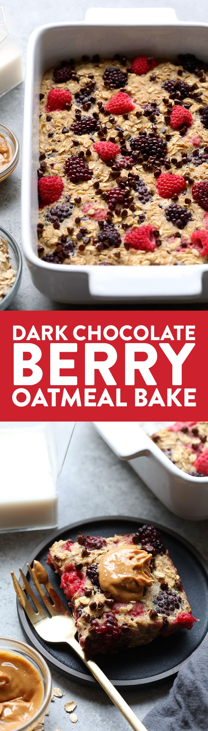 VIDEO: How to Make a Dark Chocolate Berry Oatmeal Bake - Fit Foodie Finds