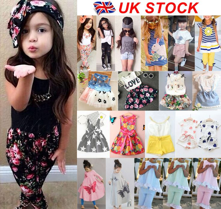 UK Stock Baby Kids Girls Headband T-shirt Pants Dress Summer Outfits Clothes Set | Clothes, Shoes & Accessories, Kids' Clothes, Shoes & Accs., Girls' Clothing (2-16 Years) | eBay!