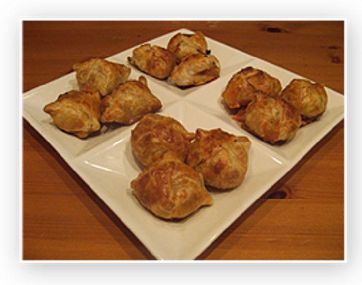 Recept voor Bladerdeeg/tonijn/roomkaas  hapjes
