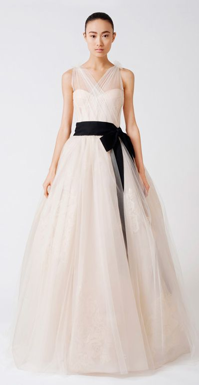 Emmeline by Vera Wang - reminds me a bit of my wedding dress. I <3 Vera Wang; did my designer profile on her in my fashion class.