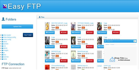 Easy FTP - PHP FTP Client on @codegrape. More Info…
