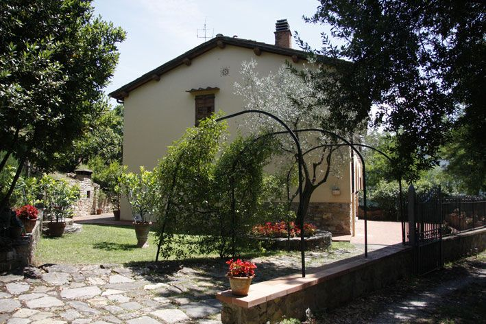 The villa from the entrance