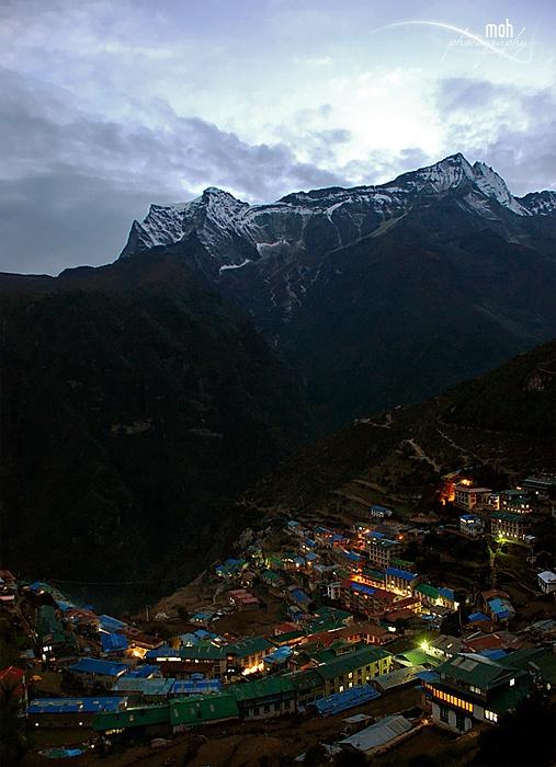 Namche Bazaar, Nepal by Mohan Duwal