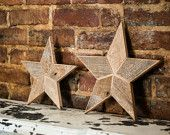 Star Christmas Tree Topper Decoration- 10 inch star tree topper made from natural reclaimed wood