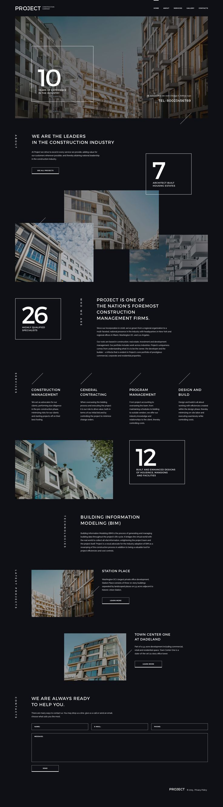 Construction Company Responsive Website Template #57947