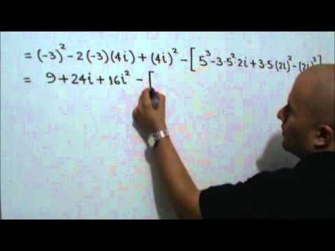 Ejercicio con números complejos: Julio Rios explica un ejercicio donde intervienen números complejos