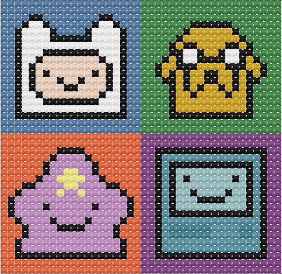 Adventure Time Cross Stitch Chart by VerityVelcro on Etsy