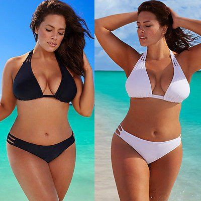 Hot Plus Size Bikini Set Low Waist