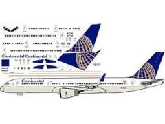 Continental Boeing 757-200 Model airliner Decal (1:144 scale) for Minicraft kit ,Bingley, West Yorkshire, United Kingdom ,FVStore.com