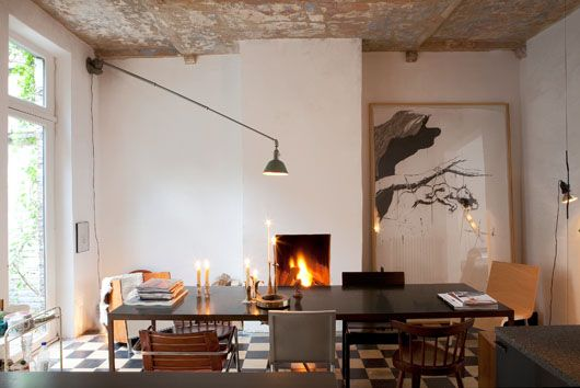 I want a fireplace in my kitchen.