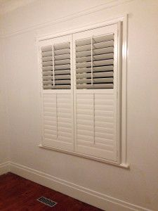 Plantation Shutter Double Hung Window