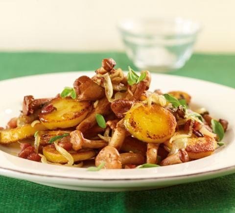 Kartoffel-Pfifferling-Pfanne - [ESSEN UND TRINKEN]