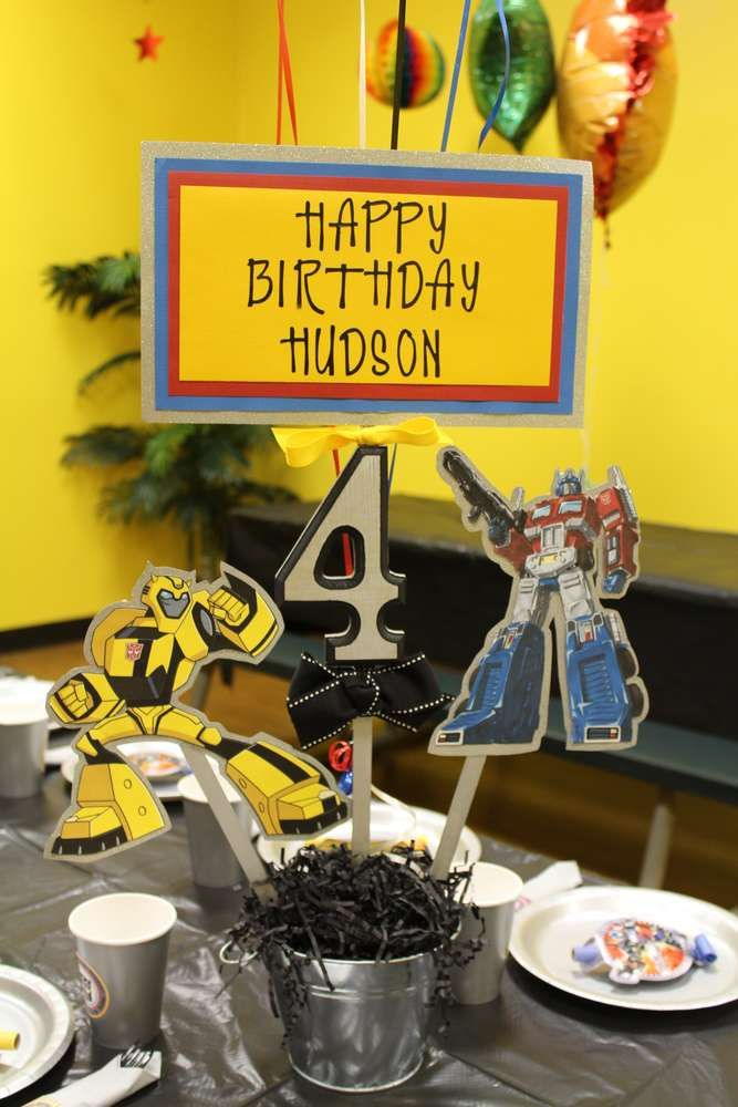 Transformer Birthday Party Ideas | Photo 15 of 19 | Catch My Party