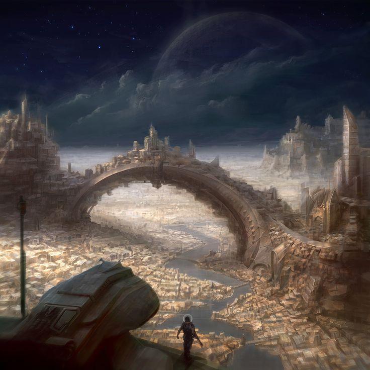 Fantasy Landscape Wallpaper: 98 Best Images About Scifi Cities On Pinterest