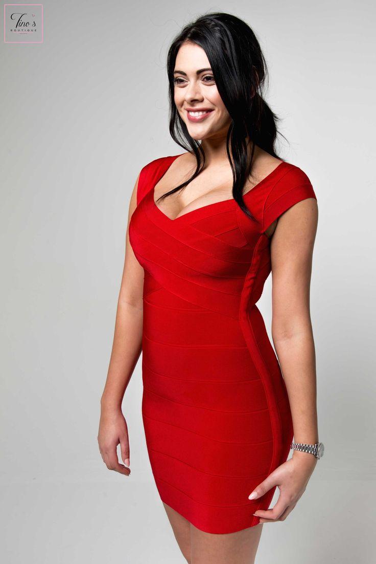 'Rae' Keyhole Back Detail Bandage Dress