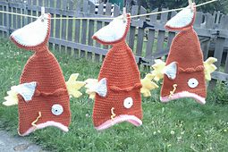 Ravelry: Magikarp Inspired: the Magic Carp Fish Hat pattern by Wendy M. Anderson