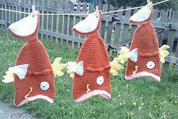 Magikarp fish hat crochet pattern