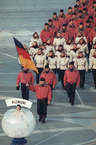 Erfolgreiche deutsche Mannschaft 1992 Albertville