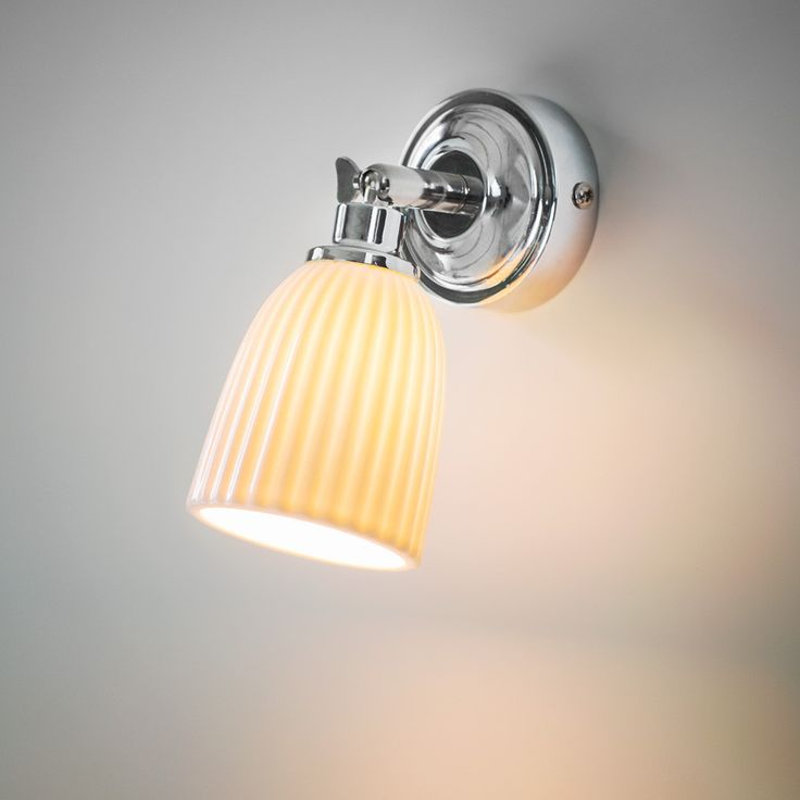 Elegant Alma Bathroom Spotlight Light With Porcelain Shade