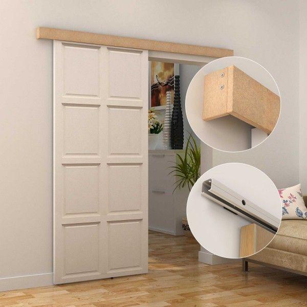 Kit de instalación para puertas correderas de aluminio o de madera. Soporta hasta 75kg. Riel adecuado para puerda de grosor 35-40mm y 40-45mm.  Medidas: 200x3,05x3,06cm. Puedes comprarlo online en https://www.aosom.es/hogar/homcom-kit-instalacion-puerta-aluminio-madera-200x3-05x3-06cm.html con envíos gratis a España y Portugal en 24h/48h.