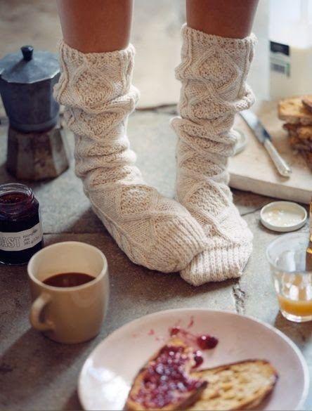 Aran Hand Knitted Socks