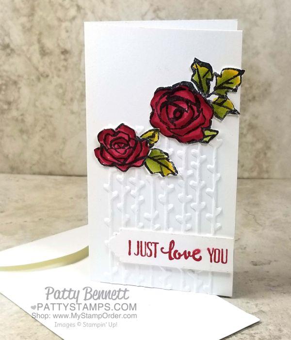Petal Pair Embossing Folder / Narrow Note Cards video   Patty's Stamping Spot   Bloglovin'