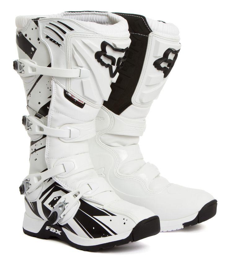 Fox Motocross-Stiefel Comp 5 Undertow - White 2015 | Maciag Offroad