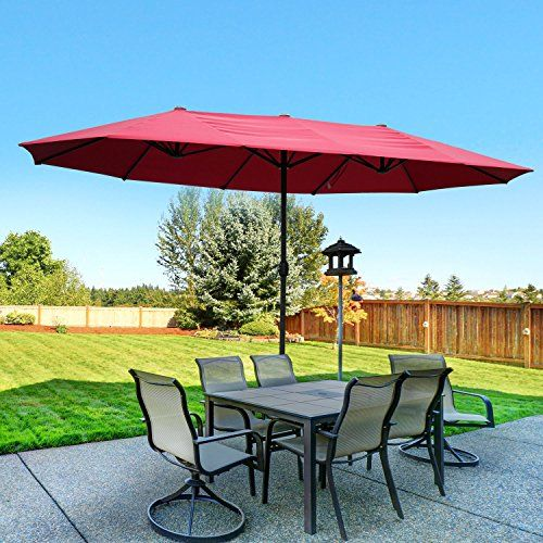 outsunny 15 outdoor patio umbrella with