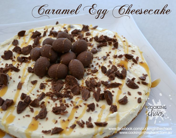 Caramel Egg Cheesecake - Cooking in the Chaos. Thermomix Recipe