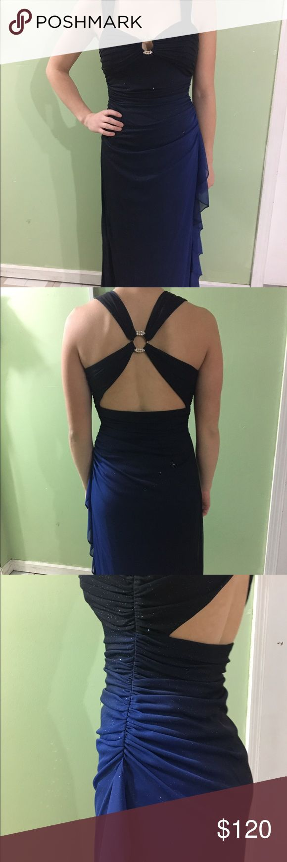 Prom dress Full length, blue, sparkly, worn once perfect condition, size 6 petite Dresses Prom
