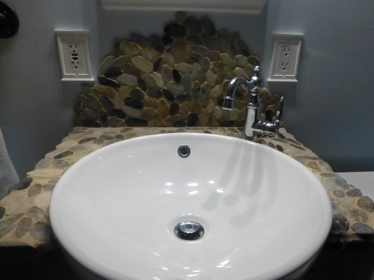 diy bathroom sink backsplash new house ideas pinterest