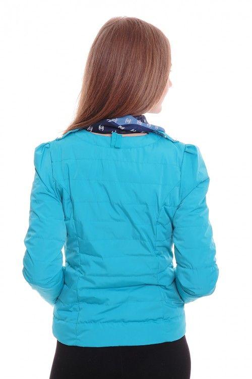 Куртка А5300 Размеры: 42-50 Цвет: бирюзовый Цена: 1875 руб.  http://optom24.ru/kurtka-a5300/  #одежда #женщинам #куртки #оптом24
