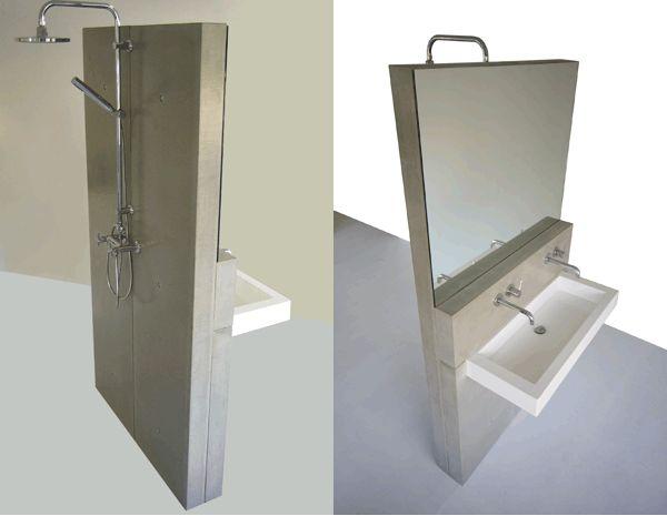 Design betonwanden voor de badkamer gimmii magazine bathroom pinterest shops design and for Badkamer design italiaanse douche