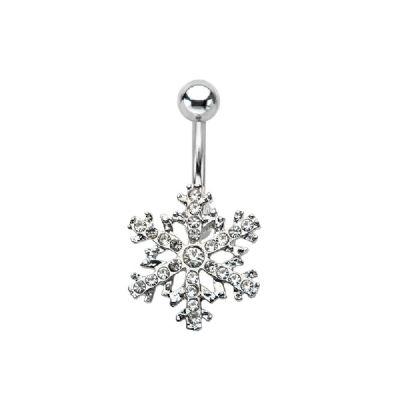 Crystal Snowflake Christmas Belly Bar