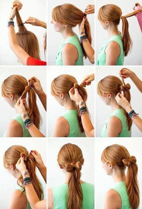 DIY hair - Capelli fai da te - coda a fiocco