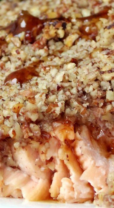 Bourbon Pecan Crusted Salmon