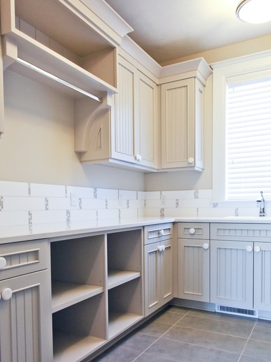 Open Shelves For Baskets Laundry Room Design Pictures Remodel Decor And Ideas